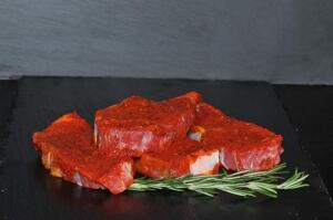 Rumpsteak mit Hot- Chili- Marinade